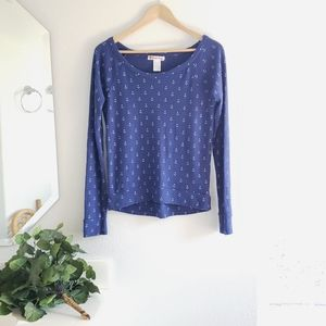 Curious Gypsy Blue Pullover Sweatshirt Size Small